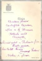 ANTIGUO MENU DE BODA DEL PARC DE BARCELONA SERVEI CARBO DEL AÑO 1926 CON LAS FIRMAS DE LOS INVITADOS (WEDDING MENU) - Menú