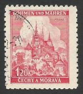 Bohemia & Moravia, 1.20 K. 1941, Sc # 52, Mi # 68, Used - Bohême & Moravie