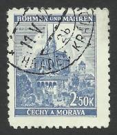 Bohemia & Moravia, 2.50 K. 1941, Sc # 53B, Mi # 71, Used - Bohemia & Moravia