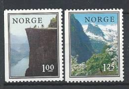 Norvège 1976 N°682/683 Neufs** Paysages - Norvège