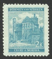 Bohemia & Moravia, 2 K. 1941, Sc # 53A, Mi # 70, MNH - Unused Stamps