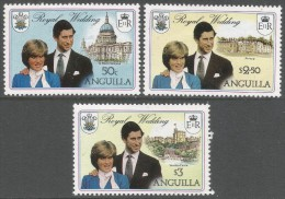 Anguilla. 1981 Royal Wedding. MH Complete Set (excl. Miniature Sheet). SG 464-6 - Anguilla (1968-...)