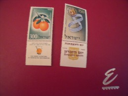 (L 30 ) Timbre ISRAEL  Y.T  1956 N° 111-112 ** - Neufs (avec Tabs)