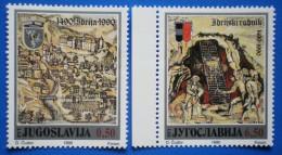 YUGOSLAVIA MINE QUICKSILVER IDRIA SLOVENIA 1990 MNH SERIES Mic.2430-2431 - 1945-1992 République Fédérative Populaire De Yougoslavie