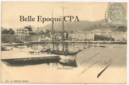 20 - Port D'AJACCIO +++ A. Guittard, Ajaccio, #156 +++ Vers Nice, 1904 +++ RARE - Ajaccio