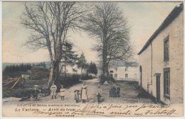23615g ARRET Du TRAM  - ENTREE Du VILLAGE - La Vacherie - 1907 - Enfants - Colorisée - Sainte-Ode