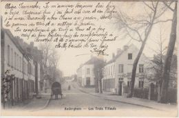 23641g  ESTAMINET Aux TROIS TILLEULS - AUBERGE - C. PENNINCKX - CHARRETTE -  Auderghem - 1905 - Auderghem - Oudergem