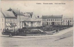 23682g  PARK Met KIOSK - GROOTE MARKT - KIOSQUE à MUSIQUE - Gheel - 1911 - Geel