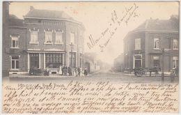 23709g CHARRETTE à BRAS - CHARRETTE à CHEVAL - RUE De POUCET - Hannut - 1903 - Hannuit
