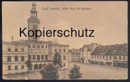 ALTE POSTKARTE GROSS STREHLITZ ALTER RING MIT RATHAUS STRZELCE OPOLSKIE Oppeln Opole Gliwice Schlesien Cpa Postcard - Schlesien