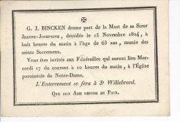 Bincken Jeanne, Anvers 15-11-1824 - Obituary Notices