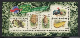 Malaysia MNH Scott #644 Sheet Of 5 Different Protected Wildlife - Stamp Week - Malaysia (1964-...)