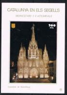 Hojita Catalunya En Els Segells. CATEDRAL De BARCELONA 200 Pts ** - Variedades & Curiosidades
