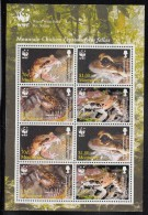 Montserrat MNH Scott #1159a Minisheet Of 2 Blocks Of 4 Mountain Chicken Frog - World Wildlife Fund - Montserrat