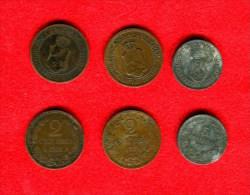 BULGARIE - BULGARIA - BULGARIEN -2 STOTINKI 1901 + 2 STOTINKI 1912 + 5 STOTINKI 1917 - Bulgaria