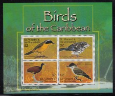 St. Vincent & The Grenadines MNH Scott #3567 Sheet Of 4 Birds Of The Caribbean - St.Vincent (1979-...)