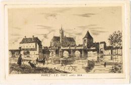 11071. Postal MORET Sur LOING (Seine Et Marne). Le Pont Aprés 1814 - Moret Sur Loing