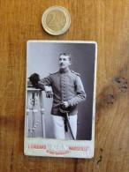 Photographie Ancienne CDV Militaire Numéro 50 Photo L Gaulard - Photographs