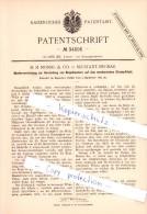 Original Patent  - M. M. Mossig & Co. In Neustadt-Siegmar , 1885 , Ringelmuster Auf Strumpfstuhl !!! - Historische Dokumente
