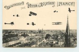 NANCY - Souvenir Des Fêtes D'aviation, Carte Illustrée. - Riunioni