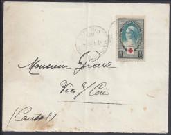 FR - CANTAL - 1939 -  N° 422 S/SUR LETTRE DE MAURS DU CANTAL A DESTINATION DE VIC S/ CERE - - Marcofilia (sobres)