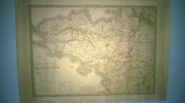 CARTE ROUTIERE DE LA BRETAGNE  -  PAR A. R. FREMIN  -  PARIS  -  FIN XIX°  -  ILLUSTREE - Roadmaps