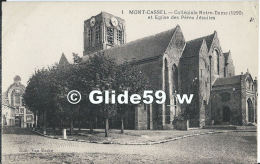 MONT-CASSEL - Collégiale Notre-Dame (1290) Et Eglise Des Pères Jésuites - N° 1 (2) - Cassel