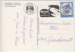 Insel MAINAU Im Rodensee, Rosengarten, Sehr Schöner Stempel Von BEZAU, Heimat Von Toni Innauer - Österreich
