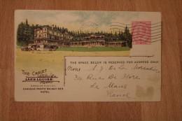 Entier Postal Canada Carte Postale Pour Le Mans Type Canadian Pacific Railway Company Oblitération Montréal Lake Louise - 1903-1954 Rois
