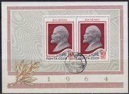 2995(1). Russia, USSR, 1964, Vladimir Lenin, Block, Used (o) (Michel Block 36) - Lénine