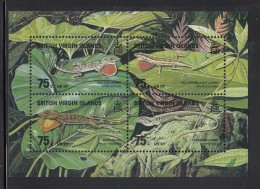 British Virgin Islands MNH Scott #907 Sheet Of 4 75c Lizards - Doctor, Yellow-bellied, Man, Ground - Iles Vièrges Britanniques