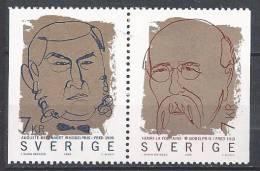 Paire De Suède N°2123-2124 Neuve émise En 1999 Prix Nobel - Sweden