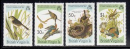 British Virgin Islands MNH Scott #520-#523 Set Of 4 Audubon Birds - Sparrow, Pigeon, Chat, Kestrel - Iles Vièrges Britanniques