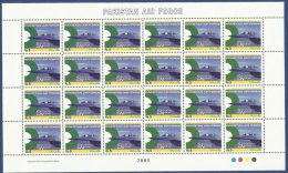 PAKISTAN 2005 MNH - Air Force, Airforce, Militaria Military, Aeroplane Jet Aircrafts, Second To None, Full Sheet Of 24 S - Pakistan