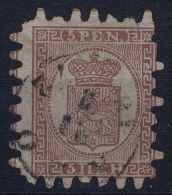 Finland / Suomi 1860 Yv.nr. 5 Mi.nr. 5C  Used  Signed/ Signé/signiert/ Approvato - 1856-1917 Russische Administratie
