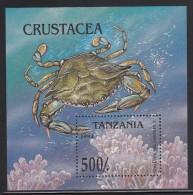 Tanzania MNH Scott #1302 Souvenir Sheet 500sh Callinectes Sapidus - Crabs - Tanzanie (1964-...)