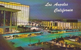 California Los Angeles Night View Of The Civic Center Mall Showing The Water And Power Building