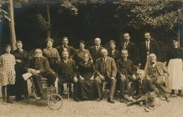 LAMALOU LES BAINS - Belle Carte Photo Portrait Touristes Parisiens En Vacances En 1921 - Lamalou Les Bains