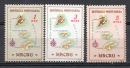 China  Chine : (6103) 1956 Macau Macao - Carte De Macao SG471**,472**,473* - China