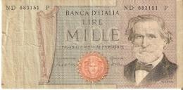 BILLETE DE ITALIA DE 1000 LIRAS DEL 30-5-1981 DE VERDI  (BANKNOTE) - [ 2] 1946-… : République