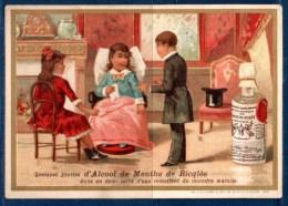 Alcool De Menthe Ricqlès : Lot De 2 Chromos, Les Conseils De Santé. - Cromo