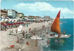 K1923 Gatteo A Mare (Forlì Cesena) - La Spiaggia Beach Plage Playa Strand - Barche Boats Bateaux / Viaggiata - Italia
