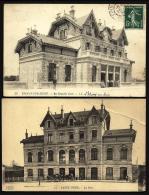 2 CPA ANCIENNES- FRANCE- ARCHITECTURE DE GARES- SAINT-OUEN  LA GARE ET EPINAY-SUR-SEINE LA NOUVELLE GARE- AVEC ANIMATION - Autres