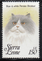 Sierra Leone MNH Scott #1644g 150le Blue & White Persian Bi-colour  - Cats Of The World - Sierra Leone (1961-...)