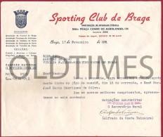 PORTUGAL - SPORTING CLUBE DE BRAGA - CREDENCIAL -  REPRESENTANTE  DO CLUBE - 1951 - Other