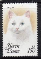 Sierra Leone MNH Scott #1644k 150le Angora  - Cats Of The World - Sierra Leone (1961-...)