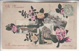 NEMOURS 77 - Multivues Colorisée :  De Nemours ... Je Vous Envoie Ces Fleurs - CPA - Seine Et Marne - Nemours