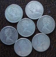 (J) CANADA: Silver Lot 7 X 10 Cents 1967 (667) - Canada