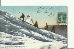 VS214  ---  GORNERGLETSCHER UND MATTERHORN  --  1910  --  CLIMBING, ALPINISME - VS Valais