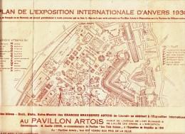 PLAN DE L'EXPOSITION D'ANVERS 1930 - PAVILLON DE LA BRASSERIE * ARTOIS ( Stella ) * - TRES RARE - Maps